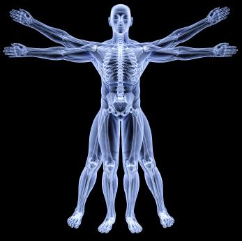 Image de l'homme transparente comme rayon X