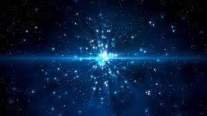 Dans un fond blue, la lumières des étoiles brillent